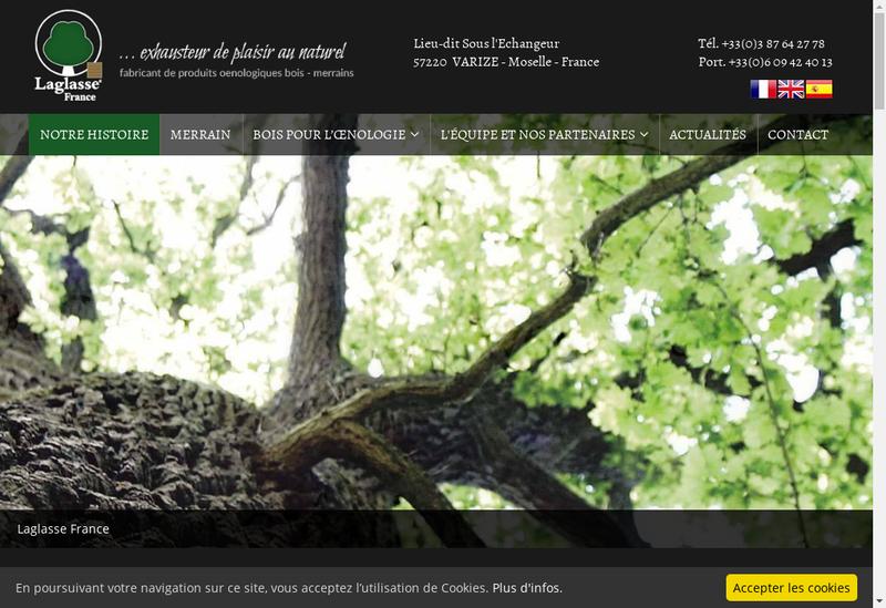 Capture d'écran du site de SARL Laglasse