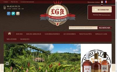 Site internet de La Gourmandine Rhumerie