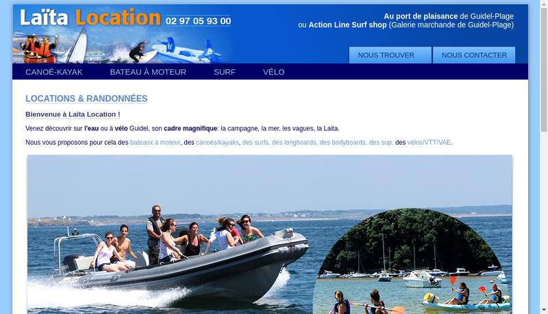 Capture d'écran du site de Action Line Laita Location