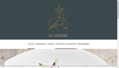 Site internet de Restaurant de la Liodiere