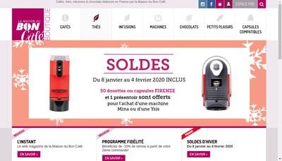 Site internet de La Maison du Bon Cafe