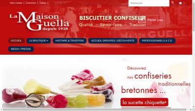 Site internet de Bretagne Caramel