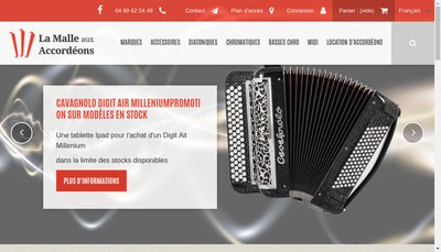 Site internet de La Malle aux Accordeons