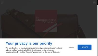 Site internet de La Maroquinerie Parisienne