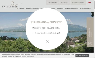 Site internet de Restaurant Lamartine