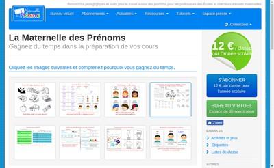 Site internet de La Maternelle des Prenoms