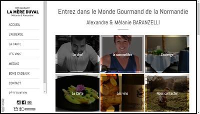 Site internet de Auberge de la Mere Duval