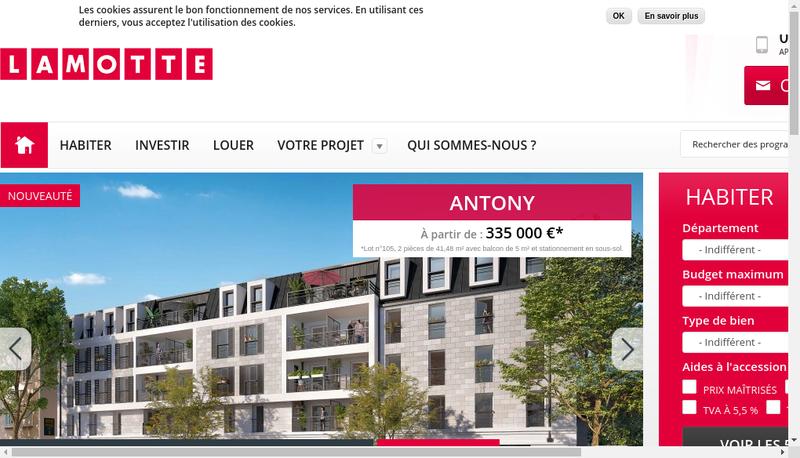 Capture d'écran du site de Lamotte SA
