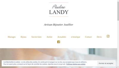 Site internet de Landy Bijouterie Joaillerie