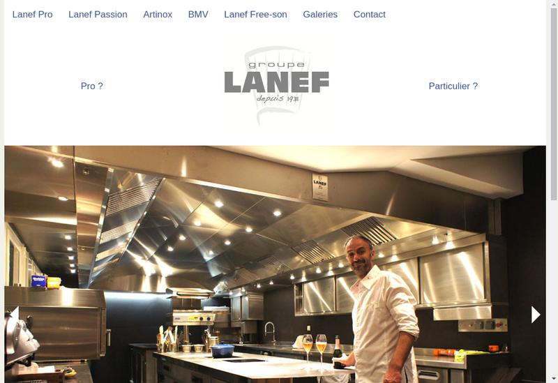 Capture d'écran du site de Lanef Pro