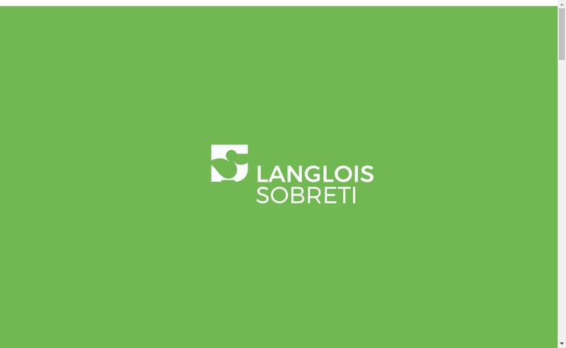 Capture d'écran du site de Langlois Sobreti