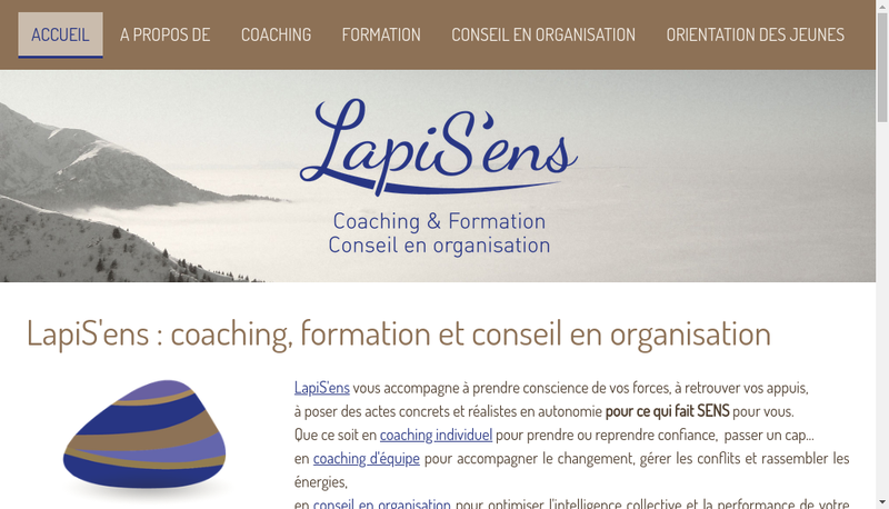 Capture d'écran du site de Lapis Ens