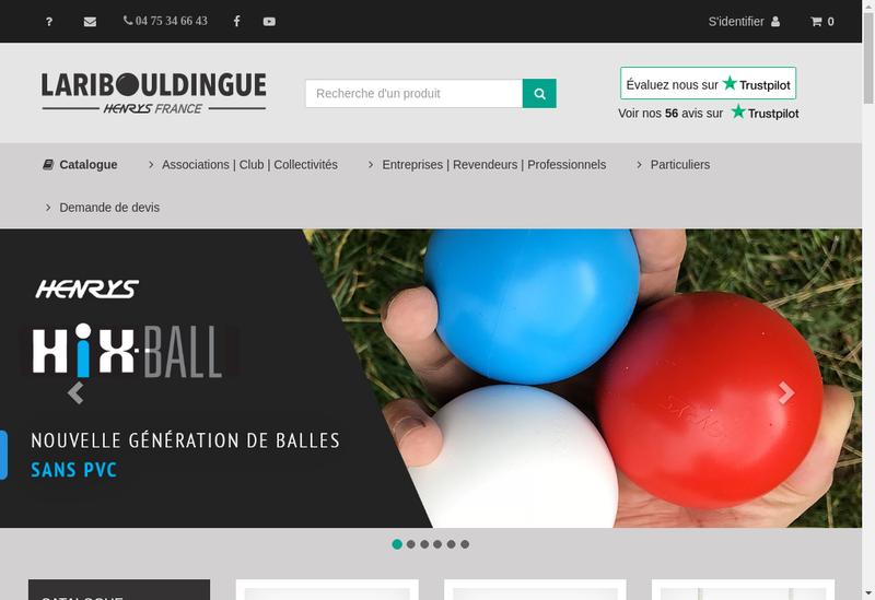 Capture d'écran du site de La Ribouldingue
