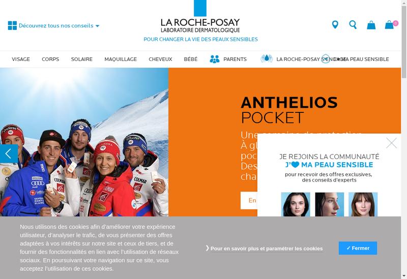 Capture d'écran du site de Societe Hydrominerale de la Roche Posa