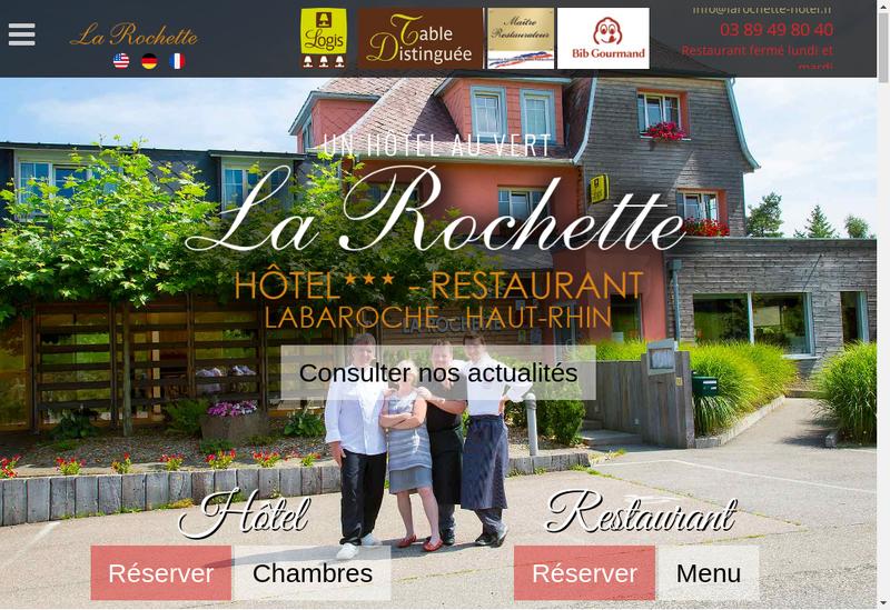 Capture d'écran du site de La Rochette