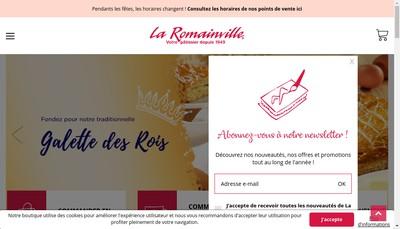 Site internet de La Romainville