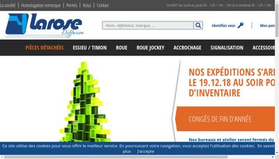 Capture d'écran du site de Larose Diffusion