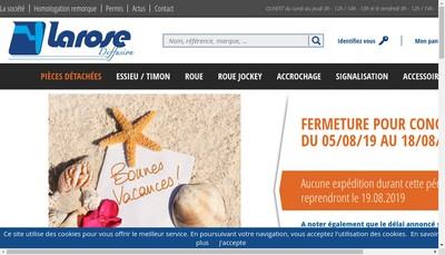 Site internet de Larose Diffusion