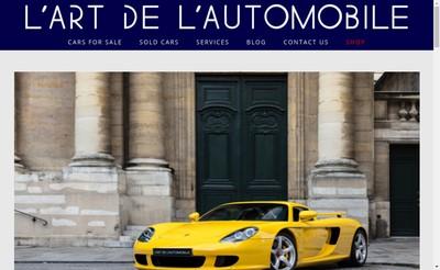 Site internet de L'Art de l'Automobile
