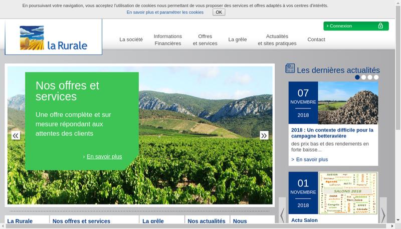 Capture d'écran du site de La Rurale