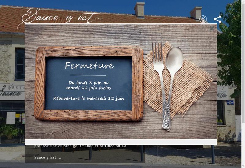 Capture d'écran du site de La Sauce Y Est
