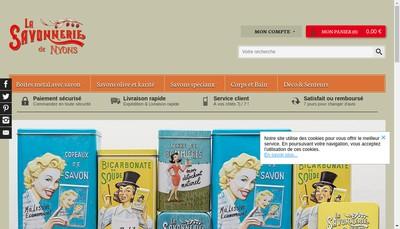 Site internet de La Savonnerie de Nyons