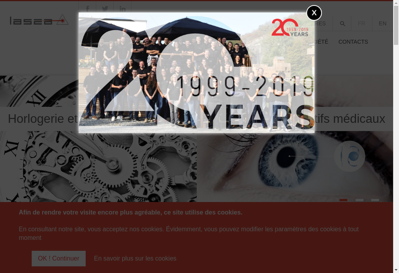 Capture d'écran du site de Lasea France