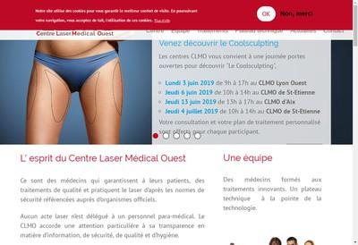 Site internet de Centre Laser Medical Ouest du Pays d'Aix