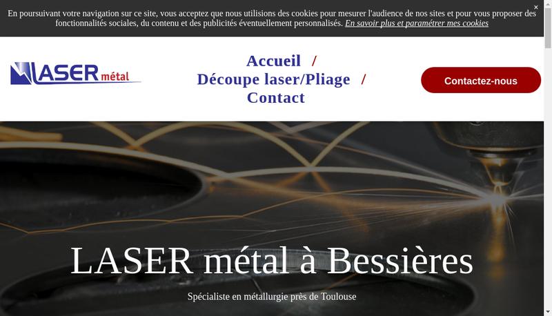 Capture d'écran du site de Laser Metal