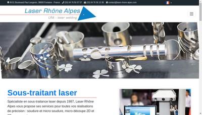 Site internet de Laser Rhone-Alpes