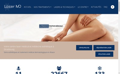 Site internet de Centre Medical Laser Md