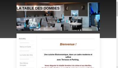 Site internet de La Table des Dombes