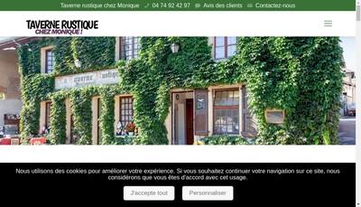Site internet de Chez Monique - Taverne Rustique