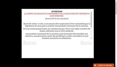 Site internet de L'Atelier du Vapoteur