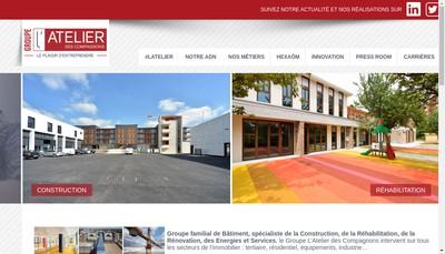 Site internet de L'Atelier des Compagnons Chriselec l'Interieur Concept
