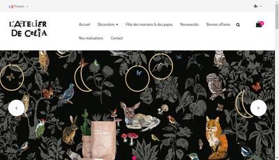 Site internet de L'Atelier de Celia