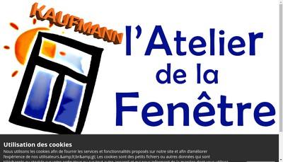 Site internet de L'Atelier de la Fenetre