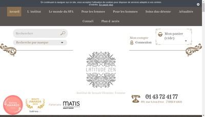 Site internet de Latitude Zen Institut