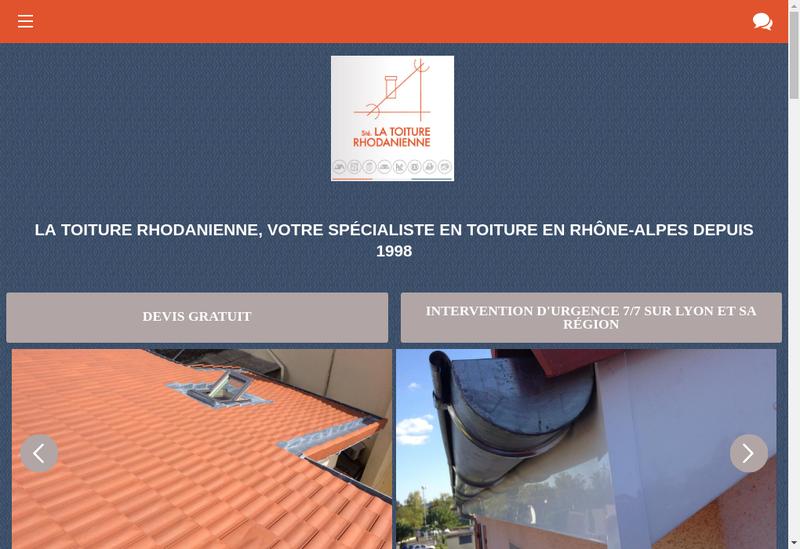 Capture d'écran du site de La Toiture Rhodanienne