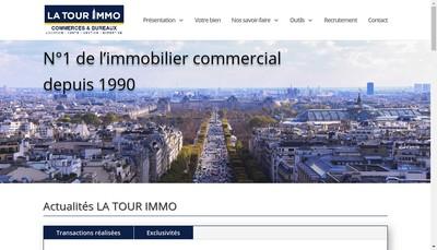 Site internet de La Tour Immo Holding