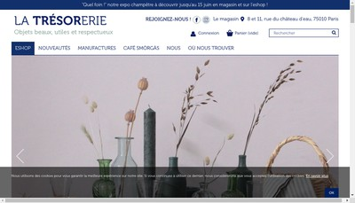 Site internet de La Tresorerie