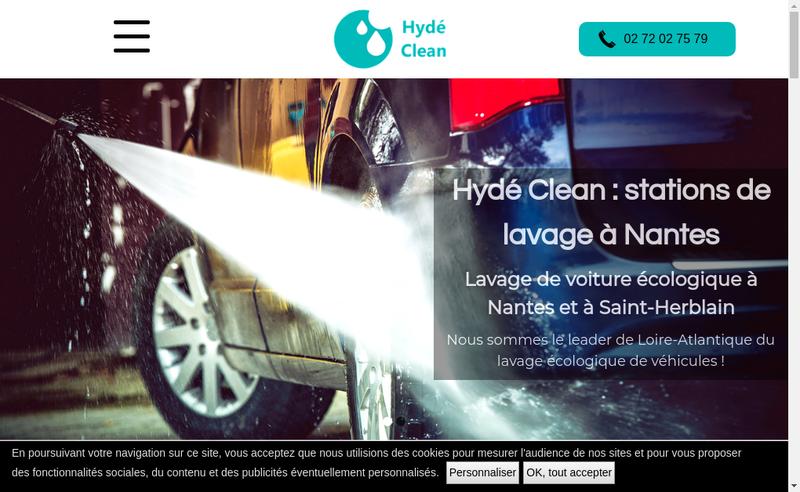 Capture d'écran du site de SARL Hyde Clean