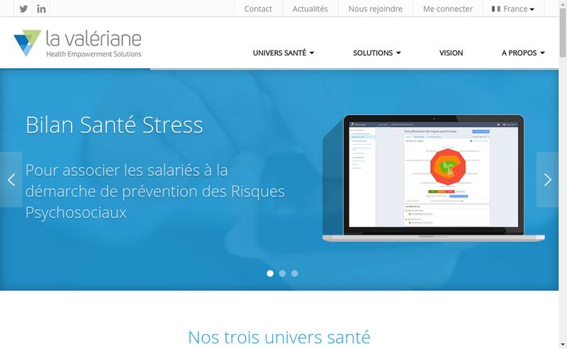 Capture d'écran du site de La Valeriane