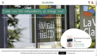Site internet de La Vie Claire