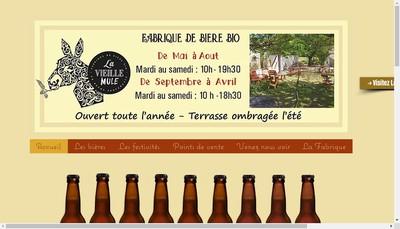 Site internet de La Vieille Mule