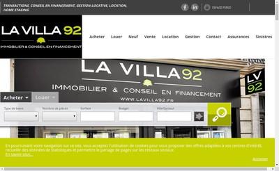 Site internet de La Villa 92