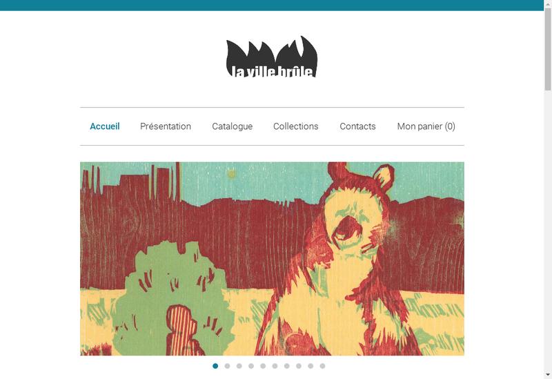 Capture d'écran du site de Editions la Ville Brule