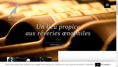 Site internet de La Vinotheque