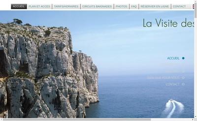 Site internet de La Visite des Calanques