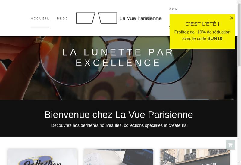Capture d'écran du site de Groupe la Vue Parisienne